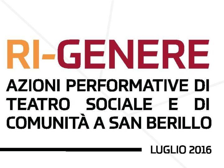 RI GENERE Azioni performative di teatro sociale e di comunità a San Berillo
